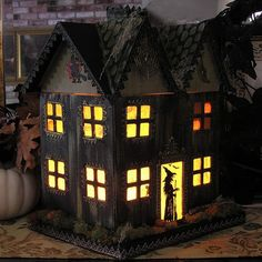 Paper Mache Haunted House - by Iva's Creations, via Flickr
