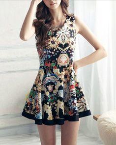 Women's Patterned Dress