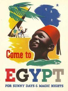 Vintage Egypt Travel Posters photo