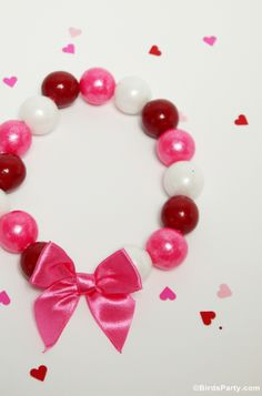 Kid's Valentine's Day Gift or Favor Idea: DIY Gumball Necklaces by Bird's Party