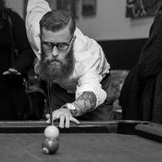 Beards. Men. Ink. Billiards. Photography.