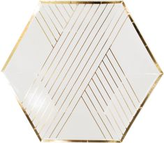 These White & Gold Dessert Plates will add a sophisticated touch to your bridal shower, golden birthday celebration, or Anniversary party. The pair well with black, color or all gold! Party Napkins, Party Plates, Cocktail Napkins, Green And Gold, White Gold, Gold Gold, Metallic Gold, Silver, Blush Bridal Showers