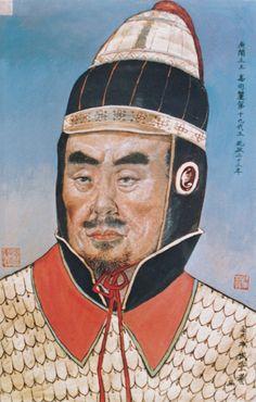 광개토대왕 초상 - 성병예 作(1990년대) 이 그림은 길림성 집안 박물관에 걸쳐있던 고구려 왕의 초상 중 하나이다. 성병예라는 길림성 작가의 작품이며 상상력을 동원하여 그린 것이기 때문에 사실 여부는 알 수 없다. 하지만 중국이 역사 왜곡을 목적으로 일부러 추남으로 표현했다는 설도 존재한다. 현재는 동북공정과 관련된 이유로 박물관에서 철거된 상태이다.