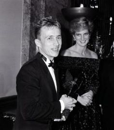 The Princess of Wales with Jasper Conran after presenting him with the 'Design of the Year' award…