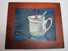 "Original Oil Painting by Juli Albers Schuster- ""Hooks"". $75.00, via Etsy."