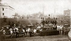 One of many of Lincoln's Funeral Corteges on his trip back home to Springfield, Ill. This one is from his funeral in Columbus, Ohio.