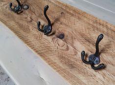 Industrial Style Reclaimed Scaffold Board Coat Hook / Rack Cast Iron, It Cast, Scaffold Boards, Hook Rack, Reclaimed Timber, Scaffolding, Coat Hooks, Furniture Making, Steel Frame