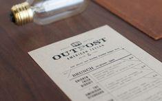 Outpost restaurant menu closeup by FoundryCo
