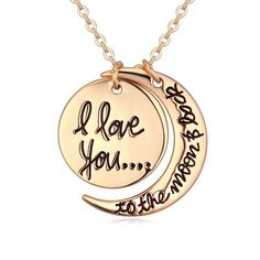 I love you... to the moon and back ♥ Halskette   eBay