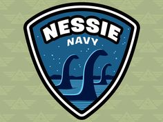 """Nessie Navy: Cryptid Command"" Embroidered Patch Design"