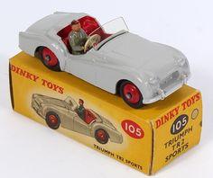 Dinky Toys 102 Triumph TR2 Sports  Pic. By QualityDiecastToys.com