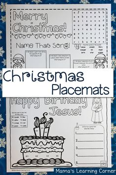 Download a set of free printable Christmas Placemats!  It's a great activity for the kiddos when there's a ton of family in the house!