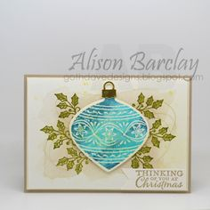 Gothdove Designs - Alison Barclay - Stampin' Up! Australia - Stampin' Up! Embellished Ornaments Bundle #stampinup #gothdovedesigns #stampinupaustralia #christmas #card #ornament #watercolour