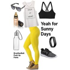 gym look by casadelola on Polyvore featuring Patagonia, NIKE, Under Armour, Fitbit, Gucci and Eva Solo
