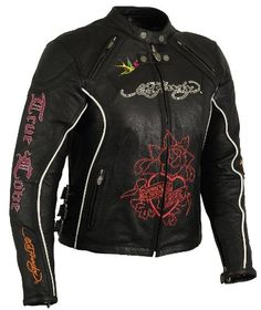 Special Offers - First Manufacturing Ed Hardy Ladies Jacket with Side Buckles (Black X-Small) - In stock & Free Shipping. You can save more money! Check It (May 07 2016 at 06:16AM) >> http://bestsportbikejacket.com/first-manufacturing-ed-hardy-ladies-jacket-with-side-buckles-black-x-small/