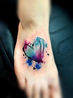 Girly Tattoos, Body Art Tattoos, Tattoo Drawings, New Tattoos, Wrist Tattoo Cover Up, Cover Up Tattoos, Arm Tattoo, Watercolor Heart Tattoos, Astrology Tattoo