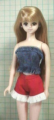 """How to make Christmas shorts (Jenny) """"Papupepo"""" handmade clothing dress-up doll Little Miss Matched, Dress Up Dolls, Handmade Clothes, Dress Outfits, Dresses, Shorts, Disney Princess, Clothing, Christmas"""