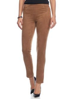 c43e4259fc6c6 Ruby Rd Lghtfaw Neutral Territory Faux Suede Leggings Suede Leggings, Faux  Suede Fabric, Wardrobe