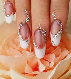 Adorable wedding nail stylish design Bling