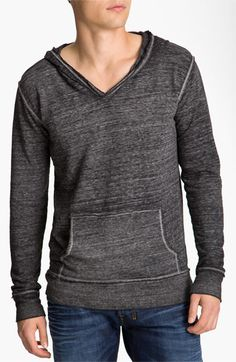 Threads for Thought V-Neck Hoodie | Nordstrom green eyes
