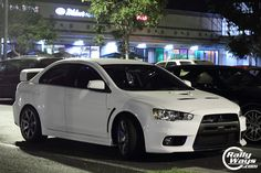 Mitsubishi Evolution X Wicked White - 2012. I want one of these.Please check out my website thanks. www.photopix.co.nz