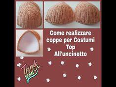 Bikinis Crochet, Crochet Bra, Crochet Bikini Top, Crochet Crafts, Free Crochet, Crochet Edging Patterns, Crochet Symbols, Knitting, Nilla