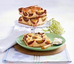 Pflaumenkuchen mit Marzipanguss Rezept
