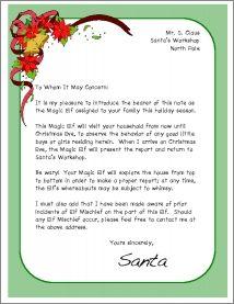 Magic Elf Letter - Frame