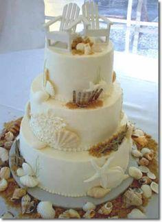 Wedding cake...if we go with the beach theme