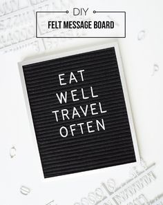 Learn how to make a cool vintage felt message board for your home or Insta-feed!
