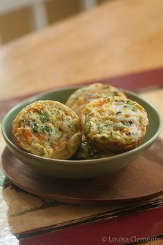 Zucchini Basil Mini Crustless Quiche