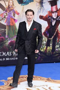 "Johnny Depp Photos - Johnny Depp attends the European premiere of ""Alice Through The Looking Glass"" at Odeon Leicester Square on May 10, 2016 in London, England. - 'Alice Through The Looking Glass' - European Film Premiere - Red Carpet Arrivals"
