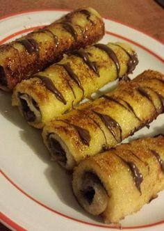 Rotolini alla nutella, nutella, dolce alla nutella, rotolini con nutella, rotolini al forno, rotolini al forno alla nutella