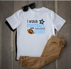 Toddler Softstyle Tee - I Watch Football With Daddy - thegiftkornershop Football Sister, Watch Football, Football Design, Baseball Tees, Tshirt Colors, Hooded Sweatshirts, Classic T Shirts, Daddy, Sleeves