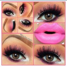 Lashes and lips
