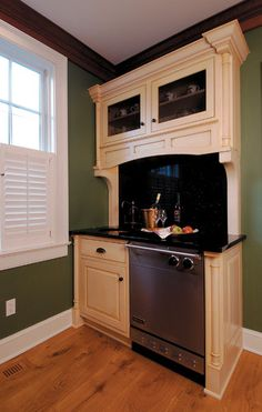 Crystal Cabinetry traditional kitchen FOR small space