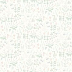 This unique wallpaper blends retro Scandinavian design with a quirky floral pattern. A calming magnolia colour makes it the ideal wallpaper for bedrooms. Browse our In Bloom collection for gorgeous floral wallpaper designs! Unique Wallpaper, Retro Wallpaper, Wallpaper Roll, Pattern Wallpaper, Magnolia Colors, Design Repeats, White Backdrop, Strawberry Fields