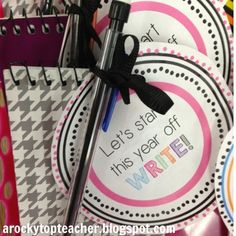 I LOVE this idea for a first day gift for students!  Definitely doing this next year!