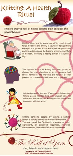 Knitting: A Health Ritual #Infographic #knitting