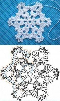 Wonderful DIY Crochet Snowflakes With Pattern - Szydełko