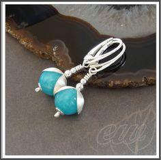 Silver earrings with jade. koralowo... kamykowo...: Jadeit o dziwnym kolorze