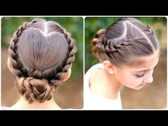 Learn how to create this Rope-Twisted Heart Updo! The link contains several photos and an 8-minute video teaching you exactly how to create this! #ValentinesDay #HeartHairstyles