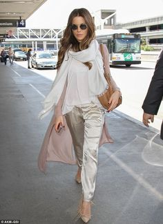 Glamorous: You'll never catch Kate Beckinsale traveling in sweatpants or Uggs for a flight...