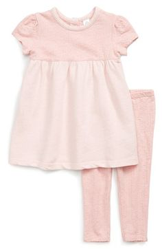 Stem Baby Organic Cotton Knit Dress & Leggings Set (Baby Girls)
