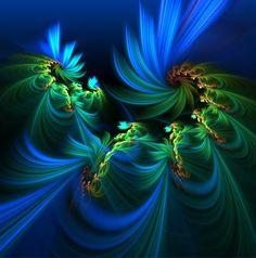 Blue & green Fractal