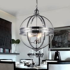 Warehouse of Tiffany Olsen 3-light Clear Glass 16-inch Round Chrome-finish Chandelier (Glass 16-inch Round Chrome-finish Chandelier), Grey