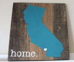 California Wood Sign State Sign Custom Wood Sign by sixtyfourco