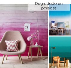 Ideas para decorar con degradado
