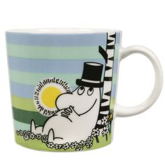 Moomin Mug Siesta Arabia Finland Summer 2009 for sale online Finland Summer, Branded Mugs, Moomin Mugs, Tove Jansson, Fuzzy Felt, Egg Holder, Ceramic Cups, China Dinnerware, Retro Design