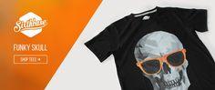 Funky Skull - Shop this Tshirt at http://www.sixthbase.com/